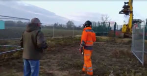 Campaigner stops HS2 from moving digger