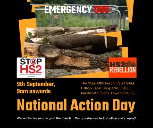 header 'Emergancy 9-9-9', pile of logs