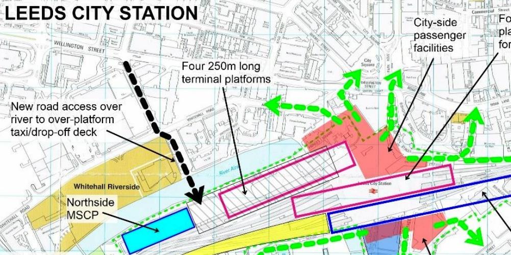 Leeds Station Map STOP HS2   A revamp for Leeds station